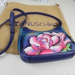 Anuschka Hand Painted Crossbody Convert  Shoulder